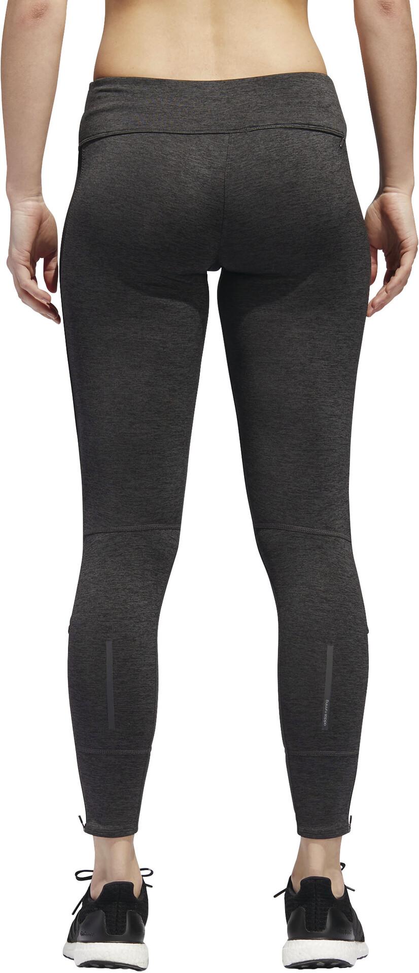 adidas Response Heather Hardloop Leggings Dames, blackcarbon